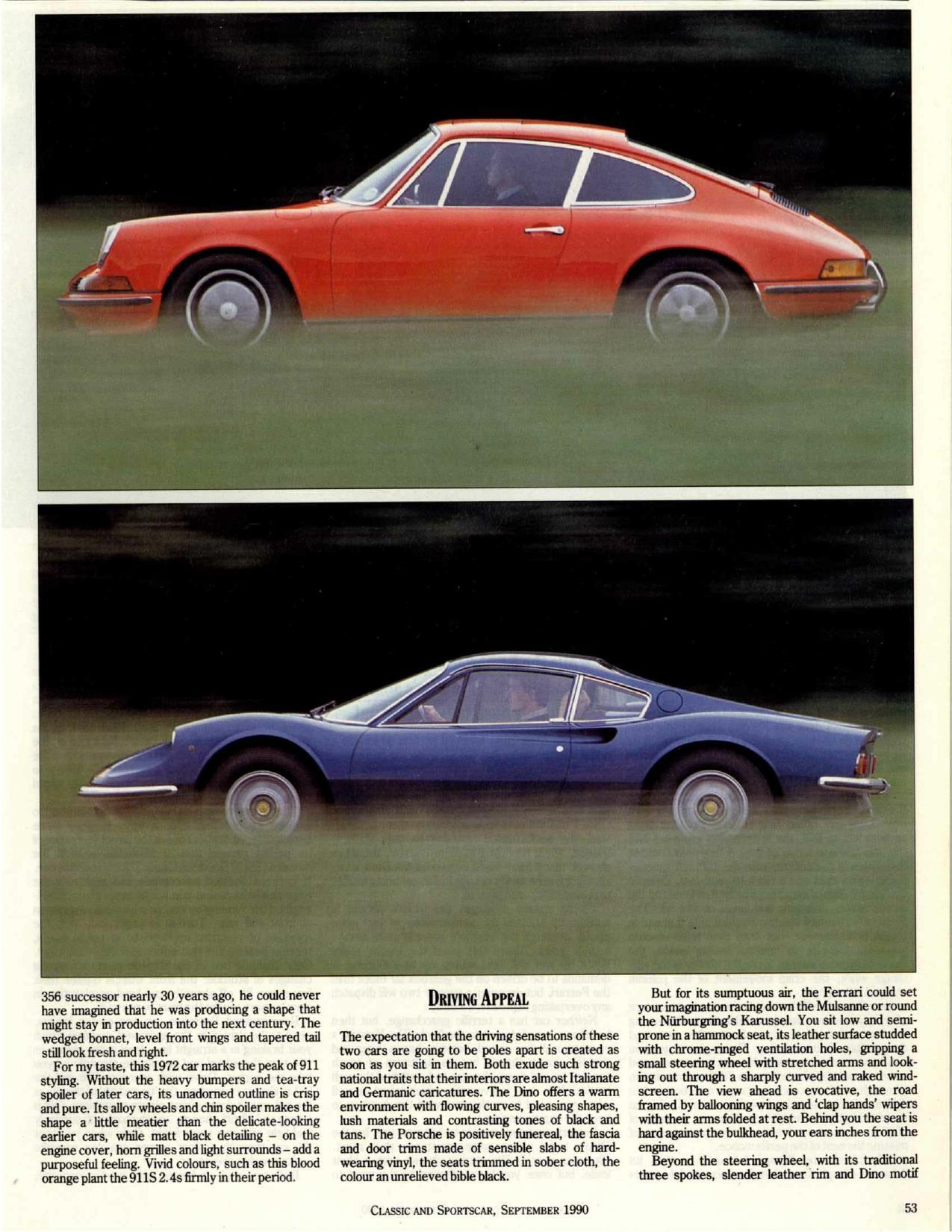 Porsche 911 S 2.4 vs Ferrari Dino 246 GT (Clic & Sportscar mag ... on porsche macan, porsche replica cars, porsche women, porsche cabrio, porsche race girl, porsche art, porsche panamera, porsche gtp, porsche front, porsche cayenne, porsche gt4, porsche cayman, porsche calendar girls, porsche hd, porsche hatchback, porsche boxster, porsche future models, porsche electric car, porsche gt,