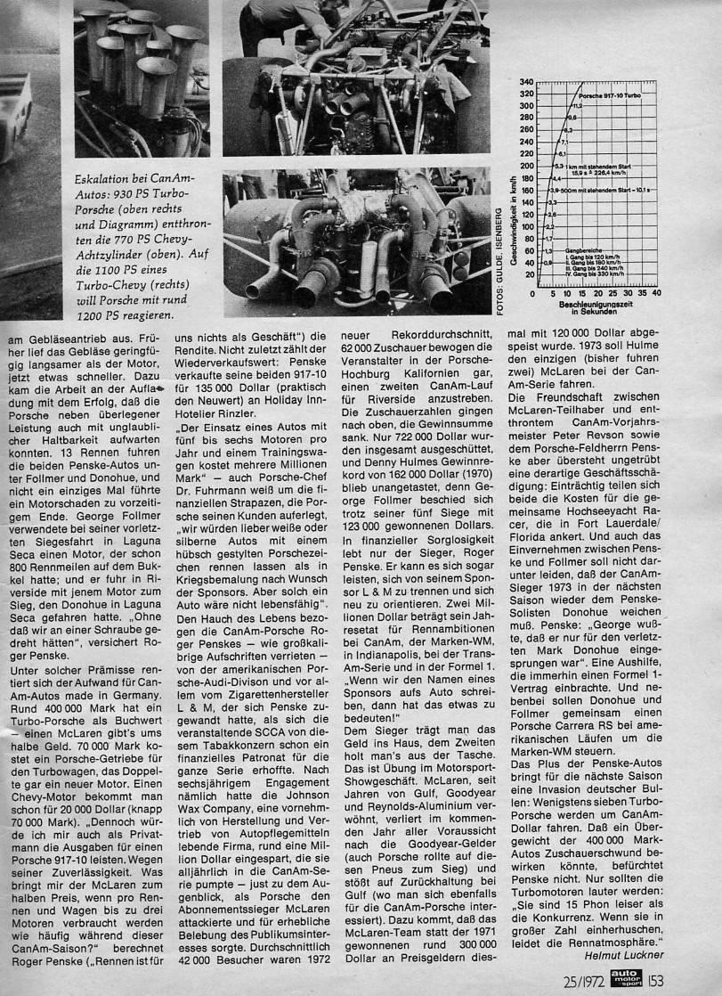 Porsche 917: Spiel ohne grenzen (Auto Motor und Sport mag., Deutsch ...
