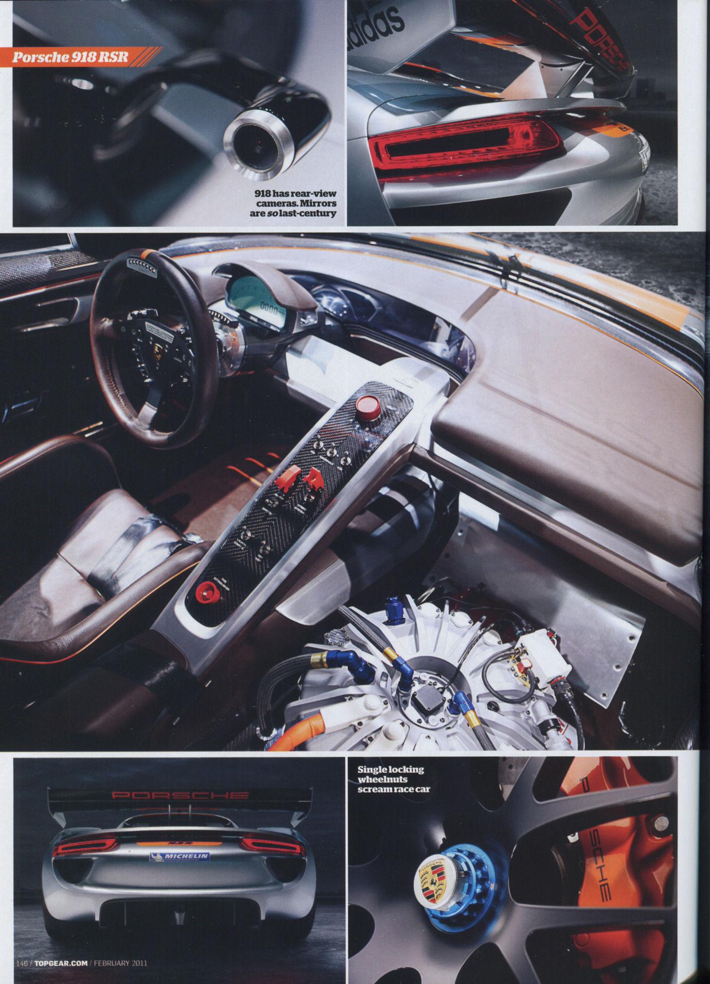 porsche 918 rsr top gear mag 02 2011 porsche cars history. Black Bedroom Furniture Sets. Home Design Ideas