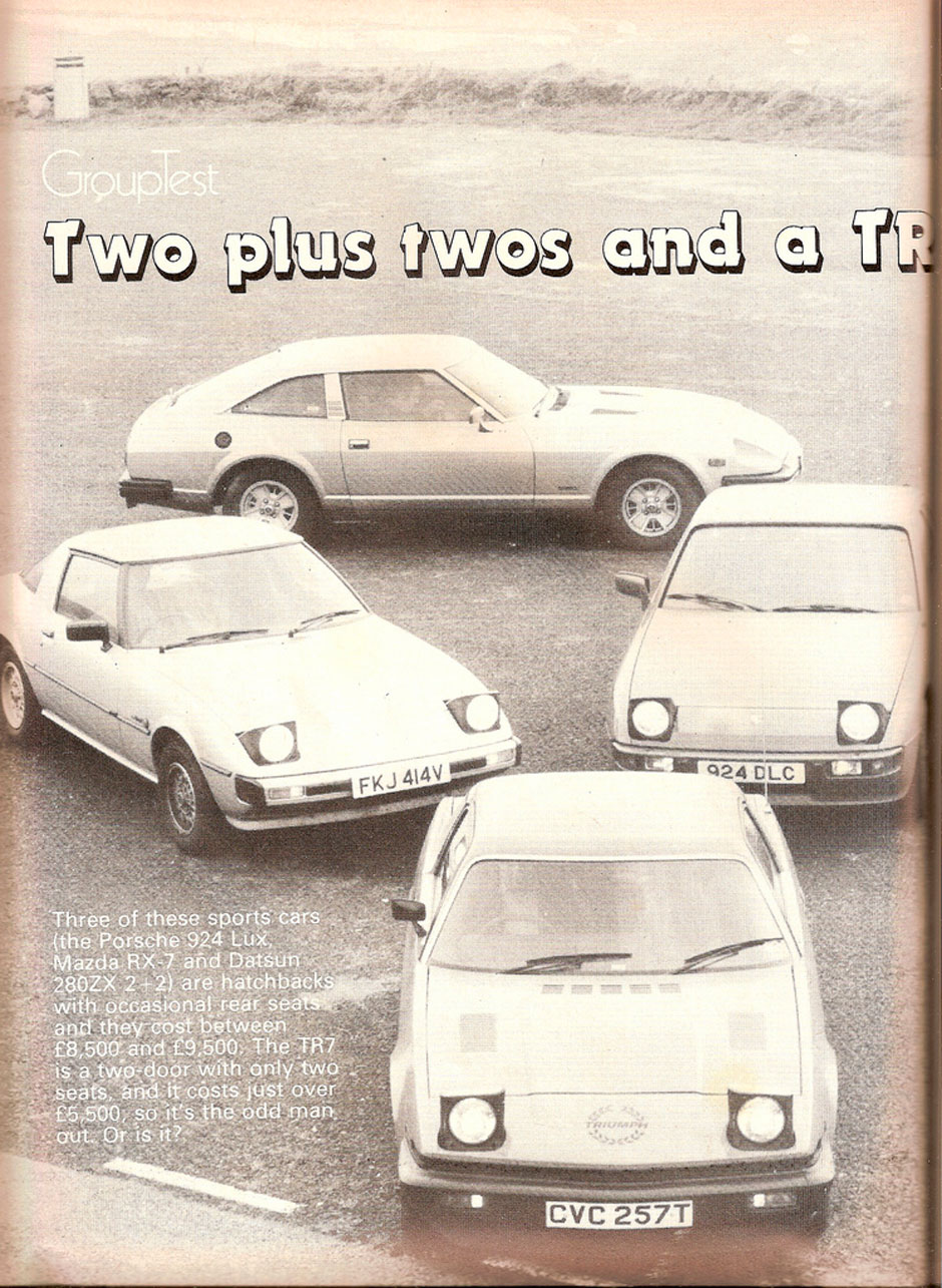Porsche 924 Vs Datsun 280zx Vs Mazda Rx7 Vd Triumph Tr7
