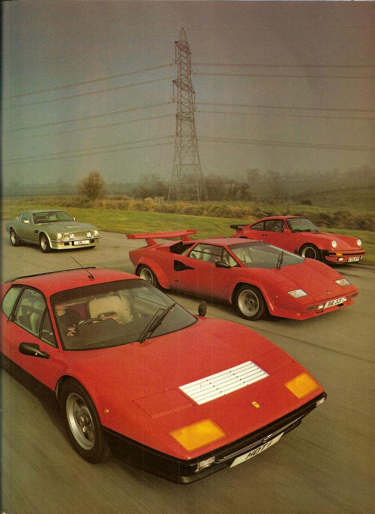 Porsche 930 Vs Ferrari 512bb Vs Aston Martin Vantage Vs
