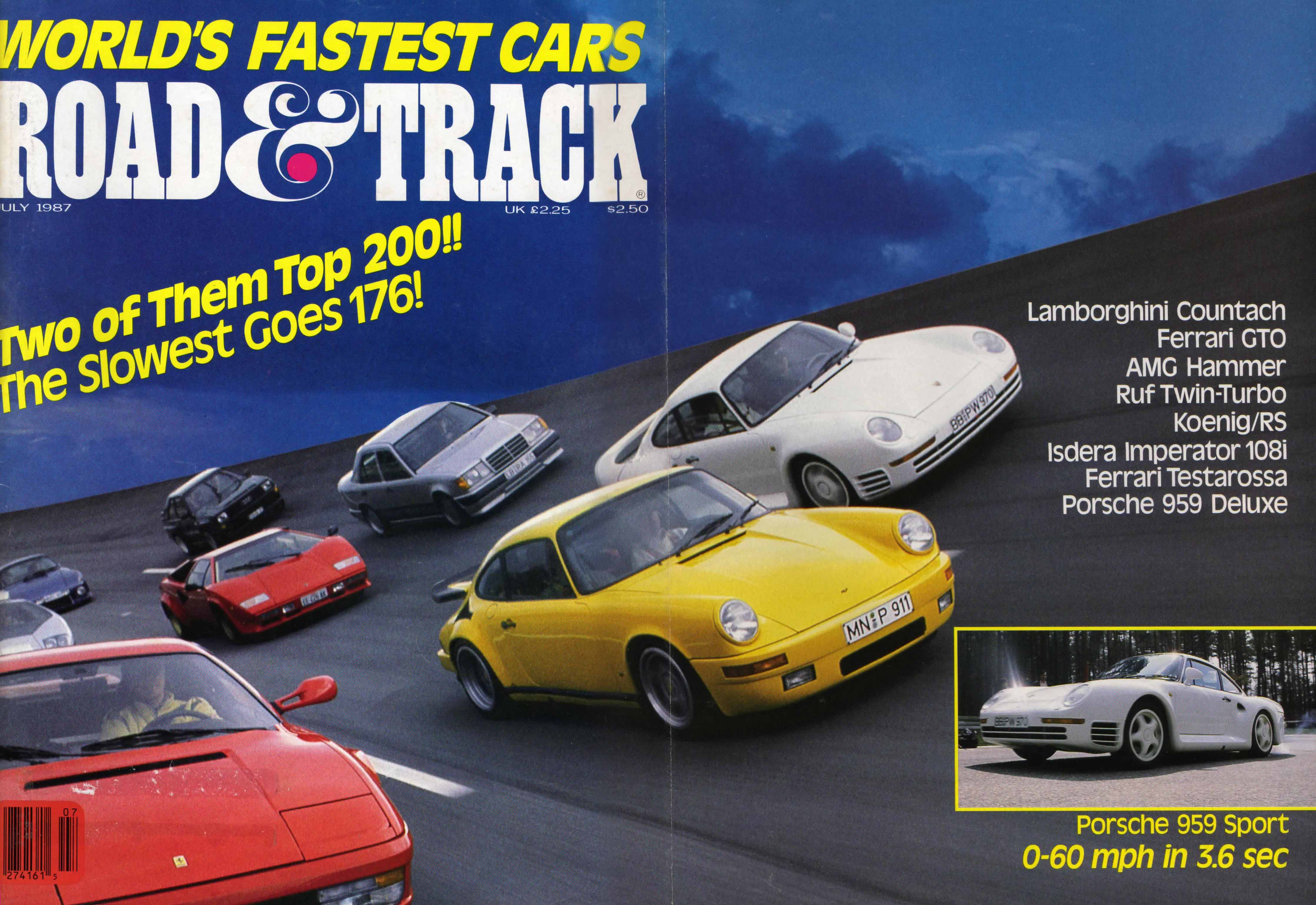 World S Fastest Car 1987 Road Amp Track Mag Porsche
