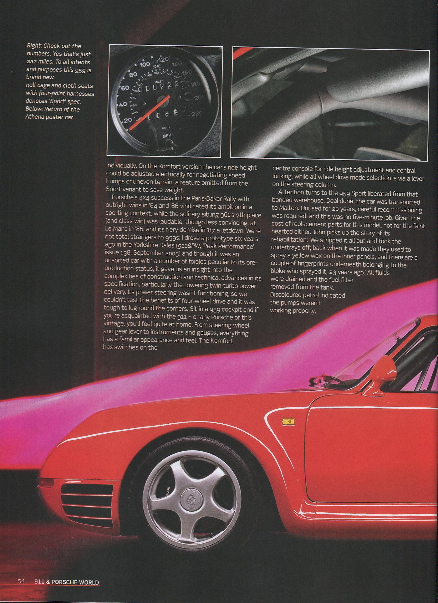 Porsche 959 911 Amp Porsche World Mag Porsche Cars History