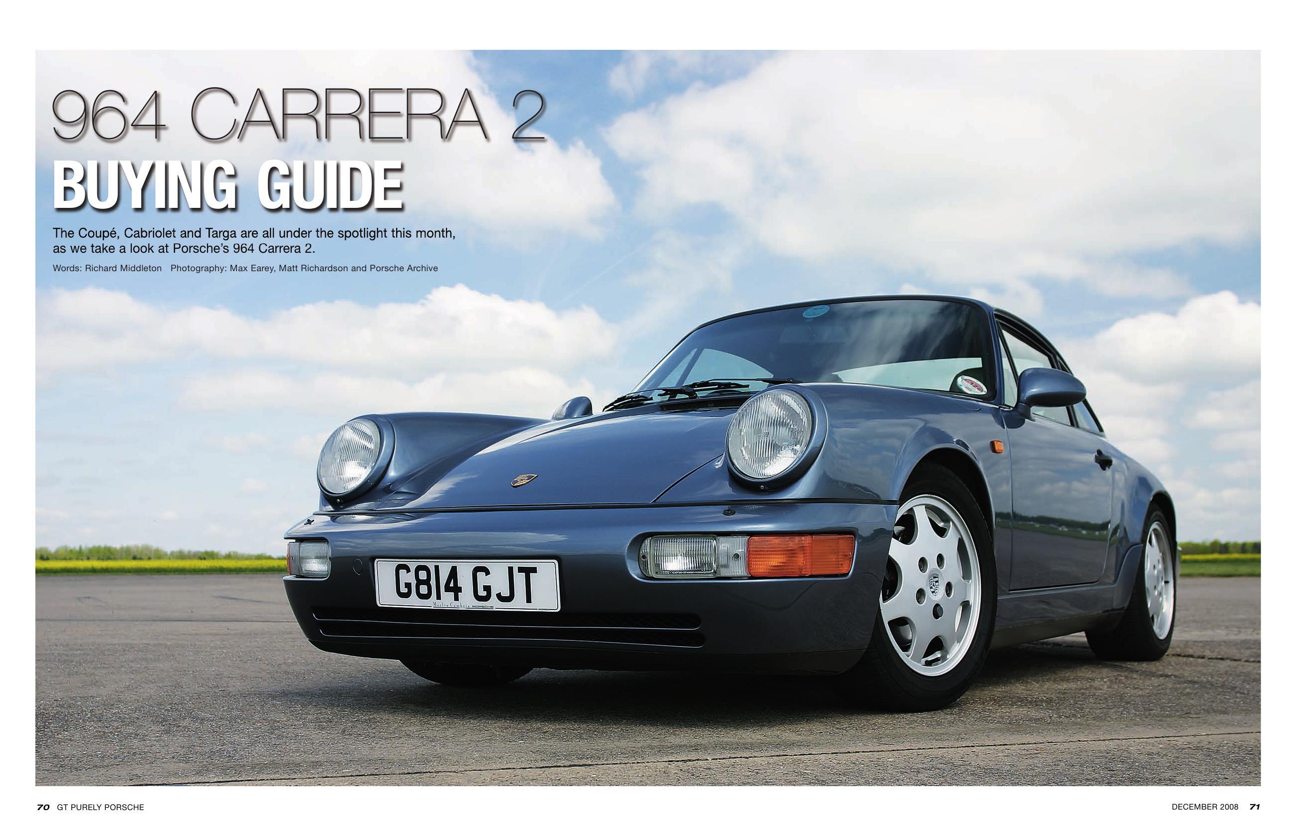 porsche 964 carrera 2 buying guide gt purely porsche mag 12 2008 rh porschecarshistory com Porsche 968 Porsche 930