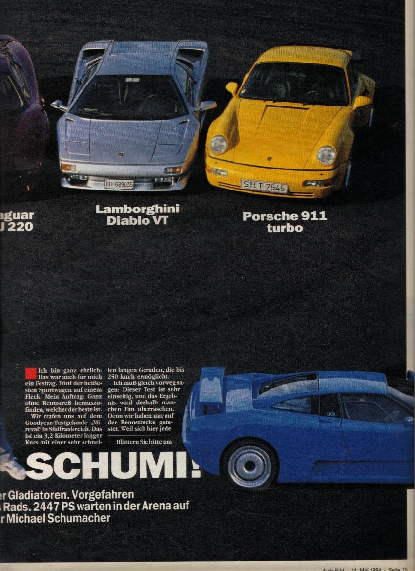 Porsche 964 Turbo Vs Bugatti Eb110gt Vs Ferrari F40 Vs