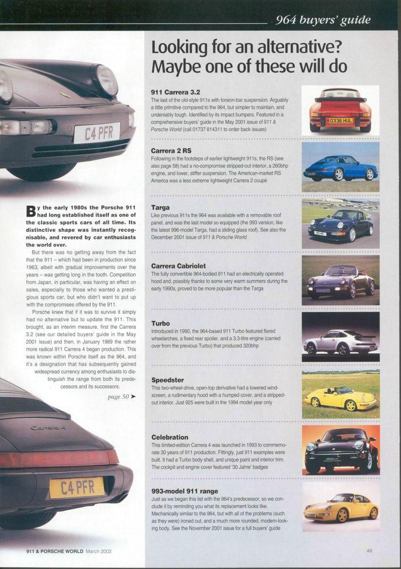 porsche 964 buyers guide 911 porsche world mag 03 2003 rh porschecarshistory com Porsche 930 Porsche 993