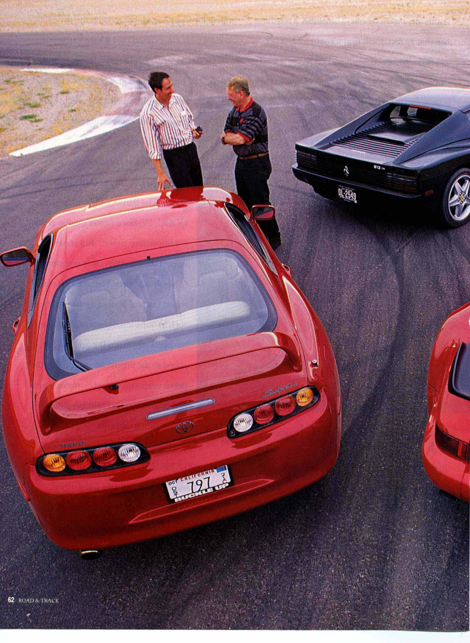 Ferrari Vs Toyota >> Porsche 964 Turbo 3 6 Vs Ferrari 512 Tr Vs Toyota Supra Turbo Road