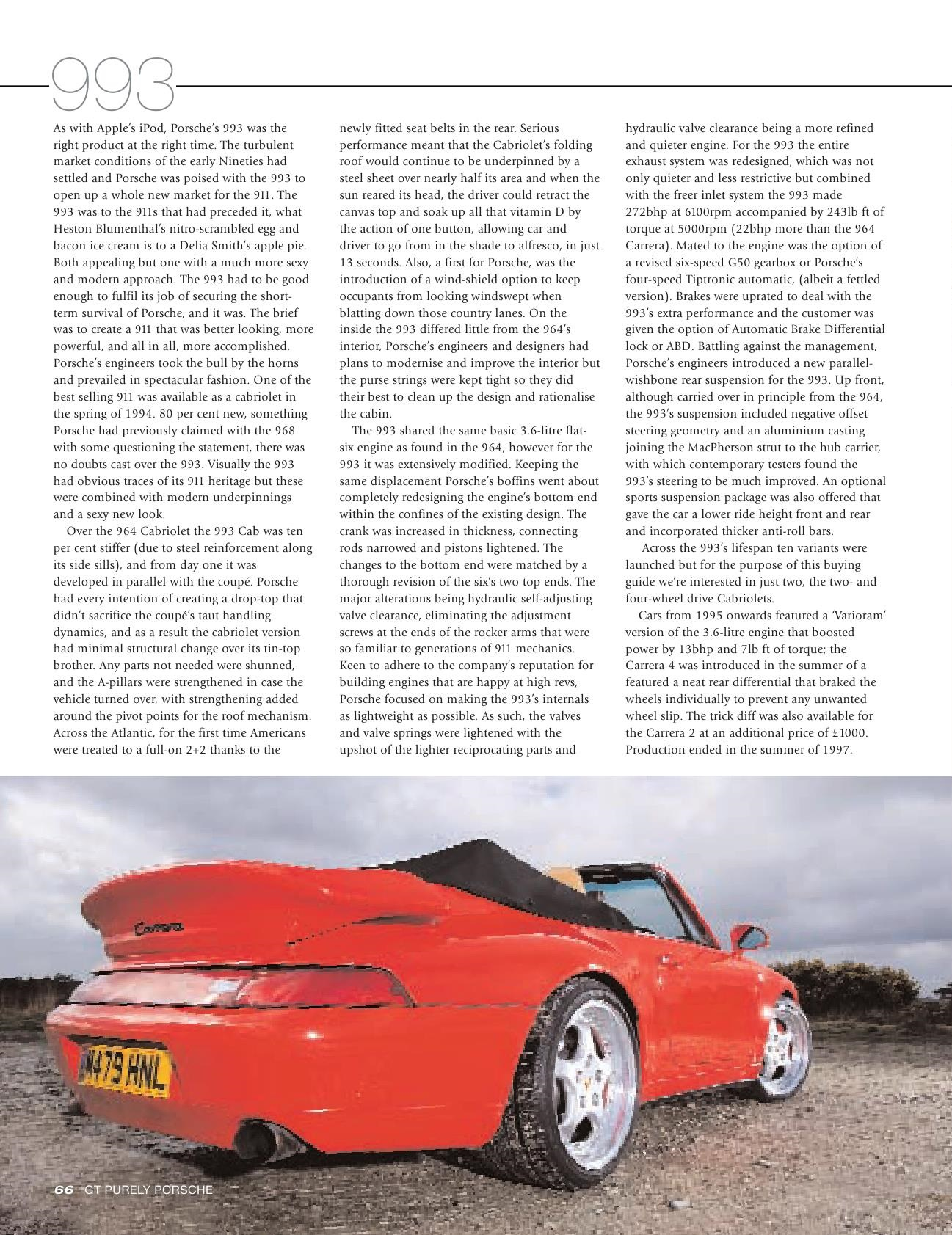 Porsche Cabriolet 964 993 996 Buyers Guide Gt Purely