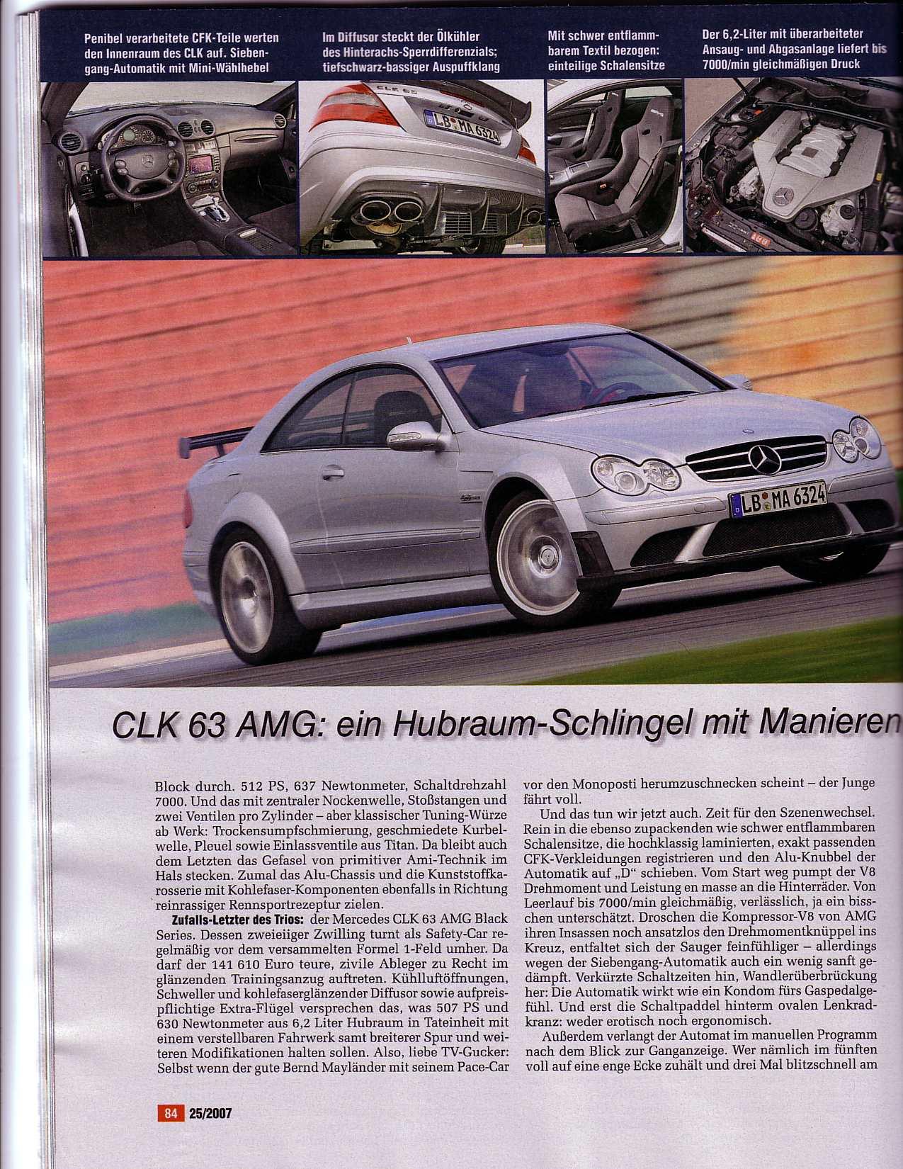 Porsche 997 GT2 vs Corvette Z06 vs Mercedes CLK63 AMG (Auto Motor ...