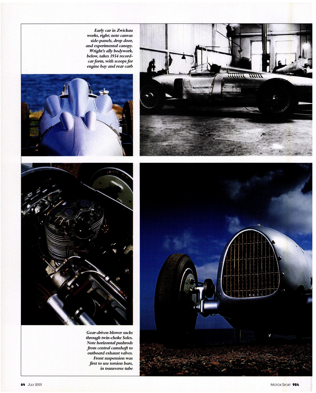 Auto Union P Wagen Motor Sport Mag 07 2001 Porsche