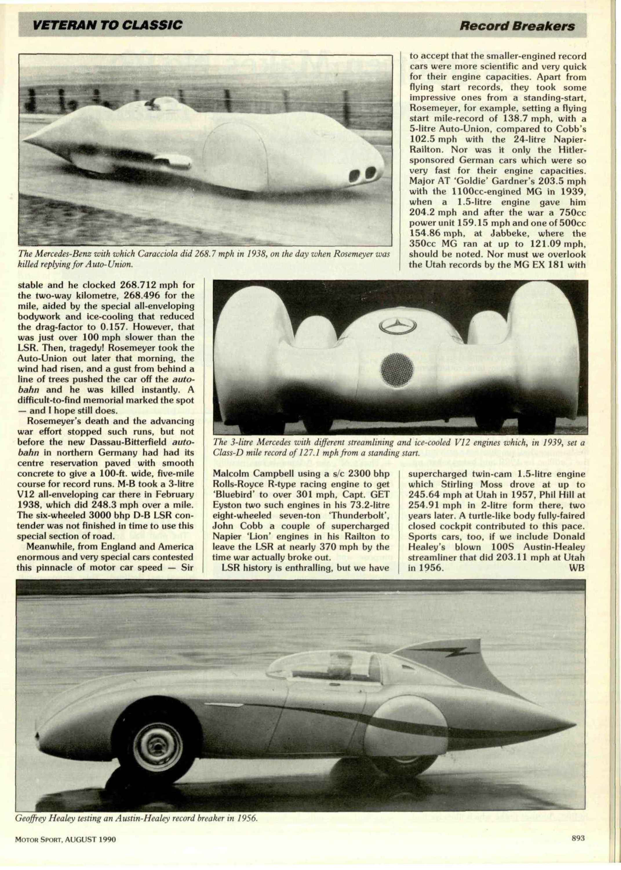 Auto Union Speed Records Cars P Wagen Typ A Typ B Lucca