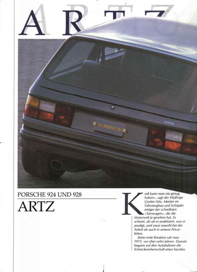 Artz Porsche 924 S Turbo Kombi Amp Artz Porsche 928 S Kombi