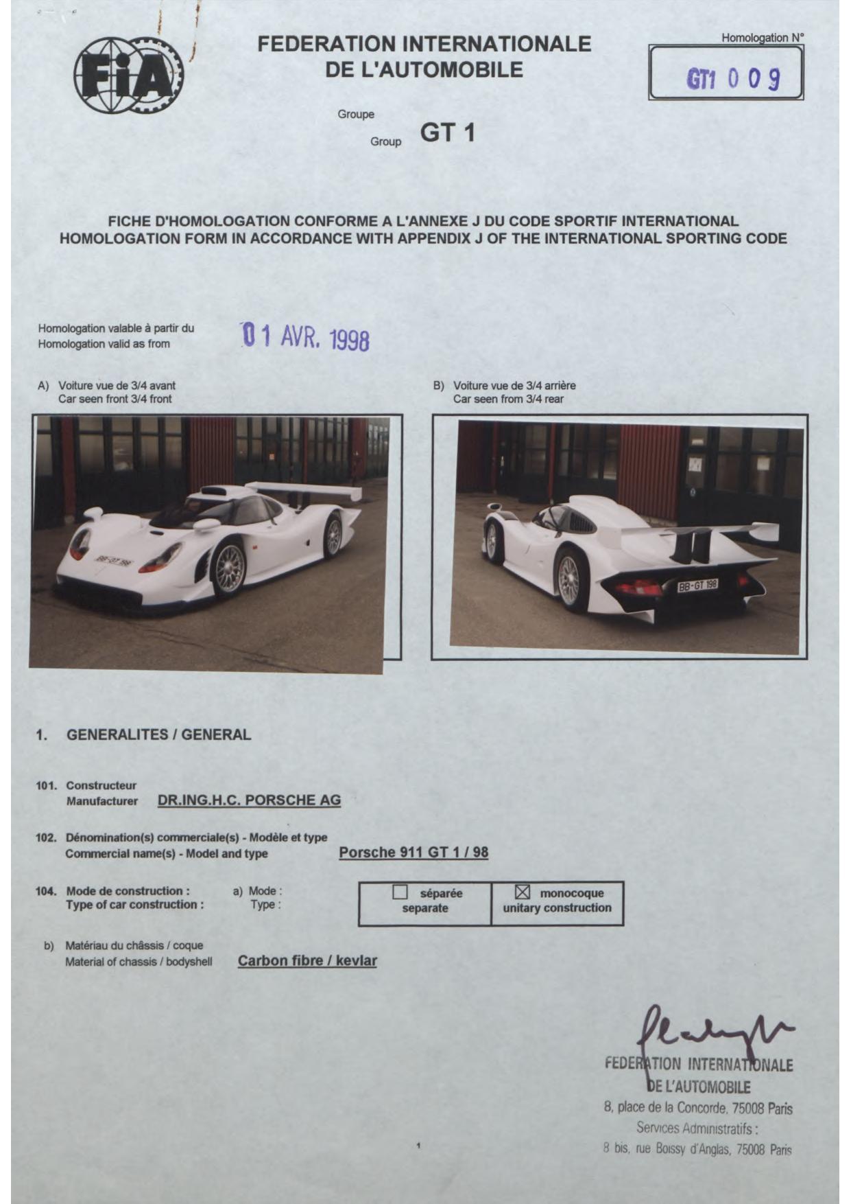 01 Wonderful 1998 Porsche 911 Gt1 Specs Cars Trend