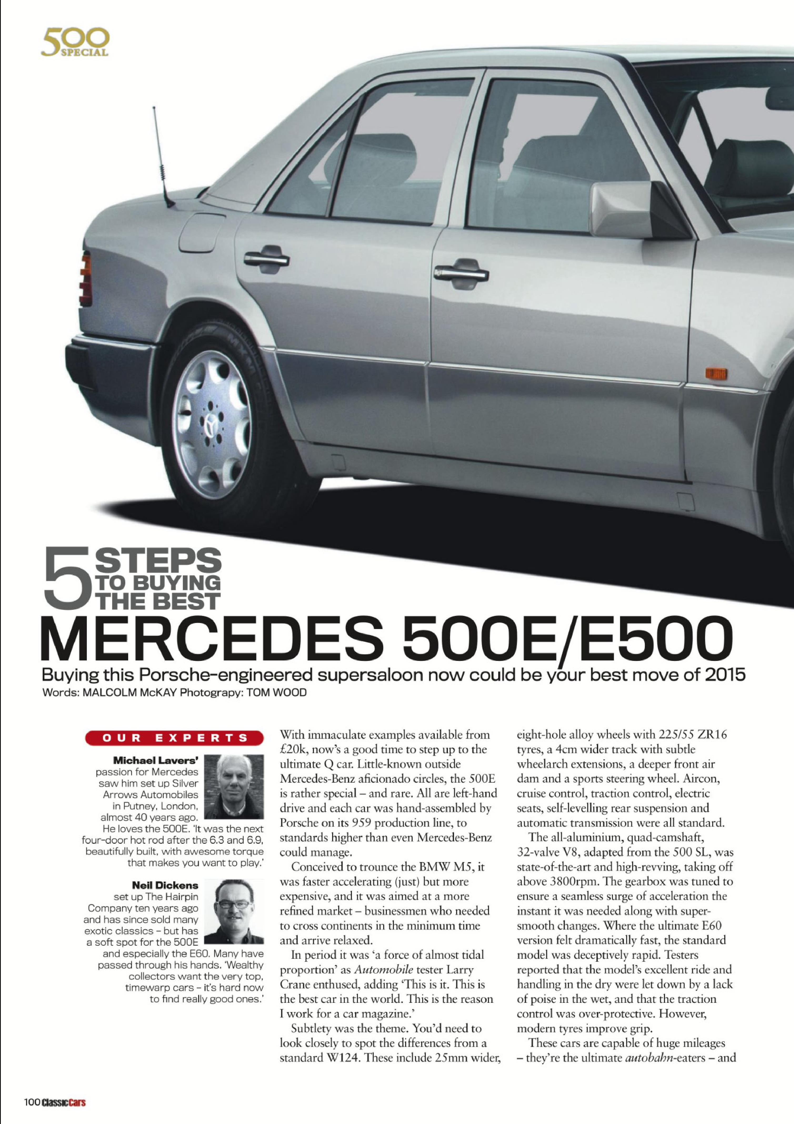 Mercedes 500E: buyers guide (Classic cars mag.) | Porsche cars history