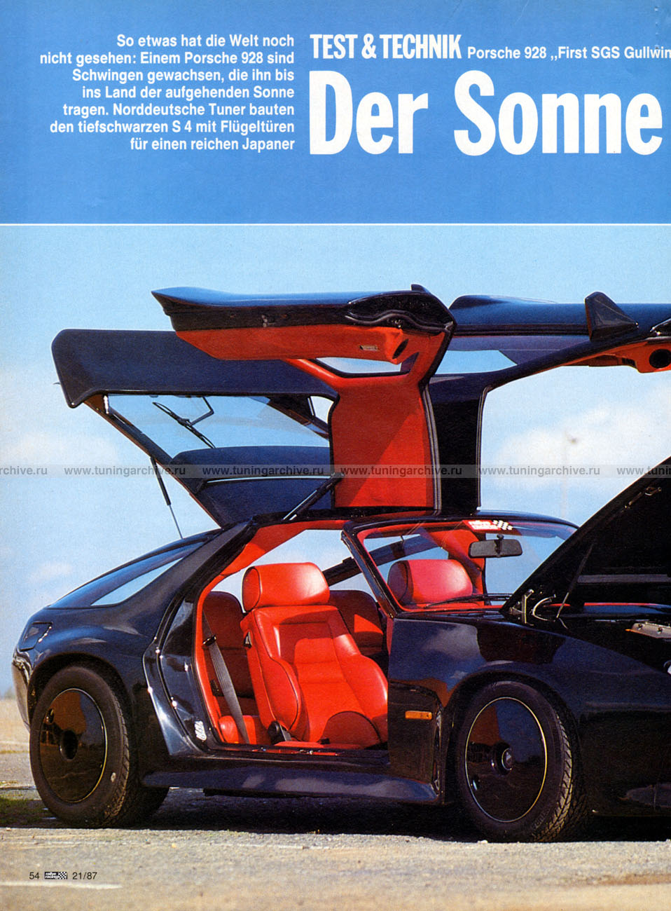 Sgs 928 S4 Gullwing Rallye Racing Mag 1987 Deutsch