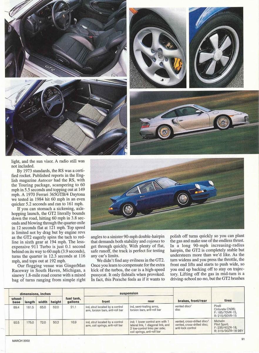 porsche 911 carrera rs porsche 996 gt2 car and driver mag 03 2002 porsche cars history. Black Bedroom Furniture Sets. Home Design Ideas