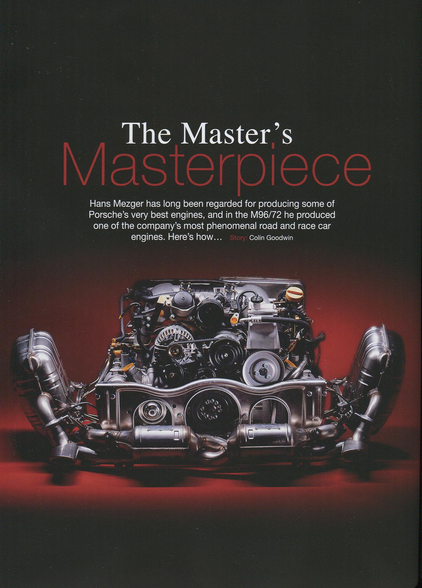 Hans Mezger: M96, M97 engines (GT Purely Porsche mag., 12 ...