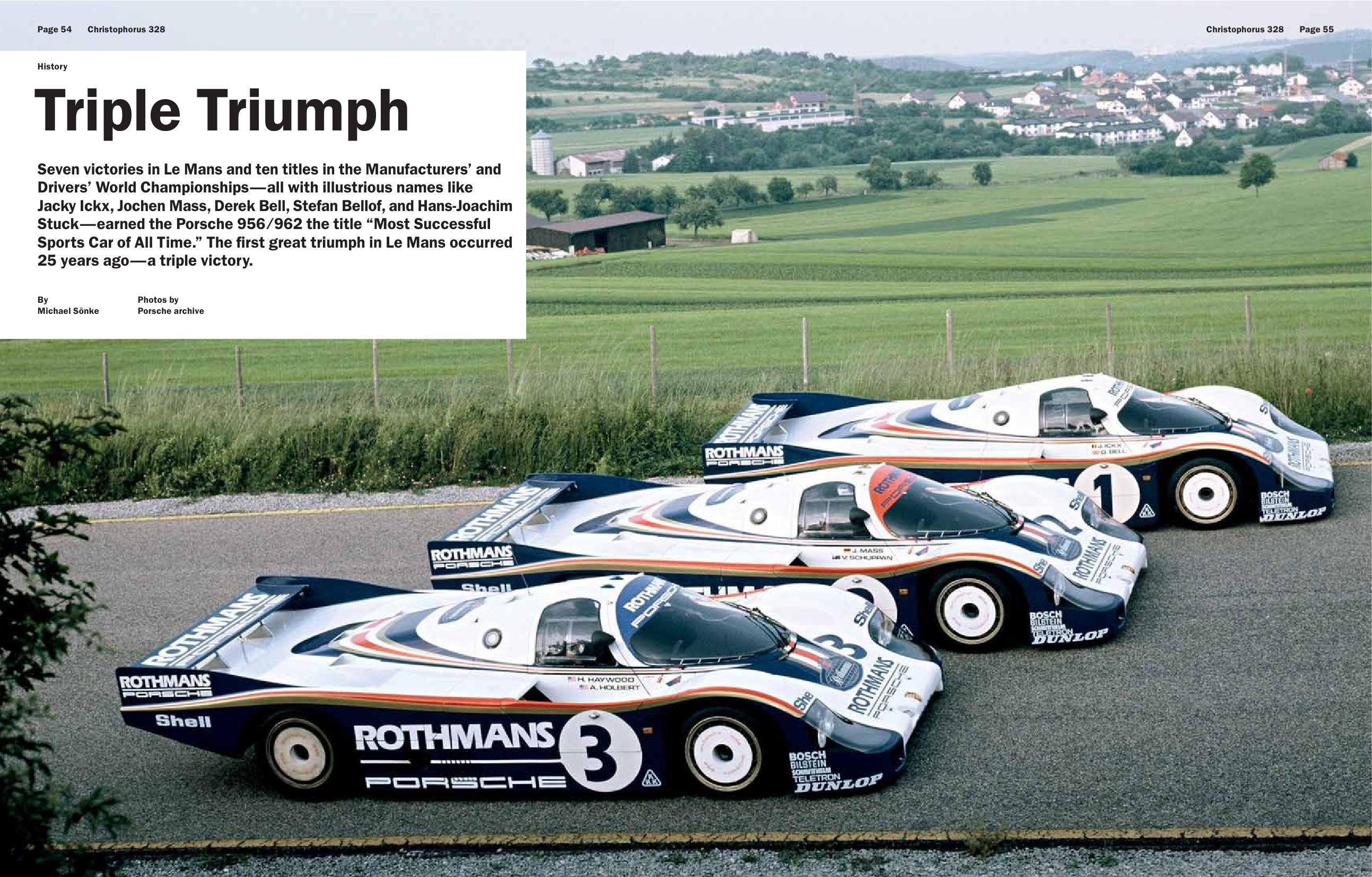 Porsche 956 Triple Win At 24 Hours Of Le Mans 1982 Christophorus Mag 2007 Porsche Cars