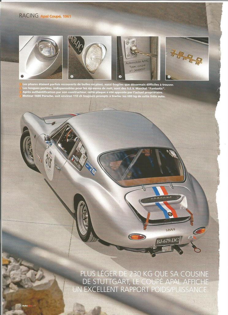 Apal Coupe 1961 Autoretro Fr Porsche Cars History
