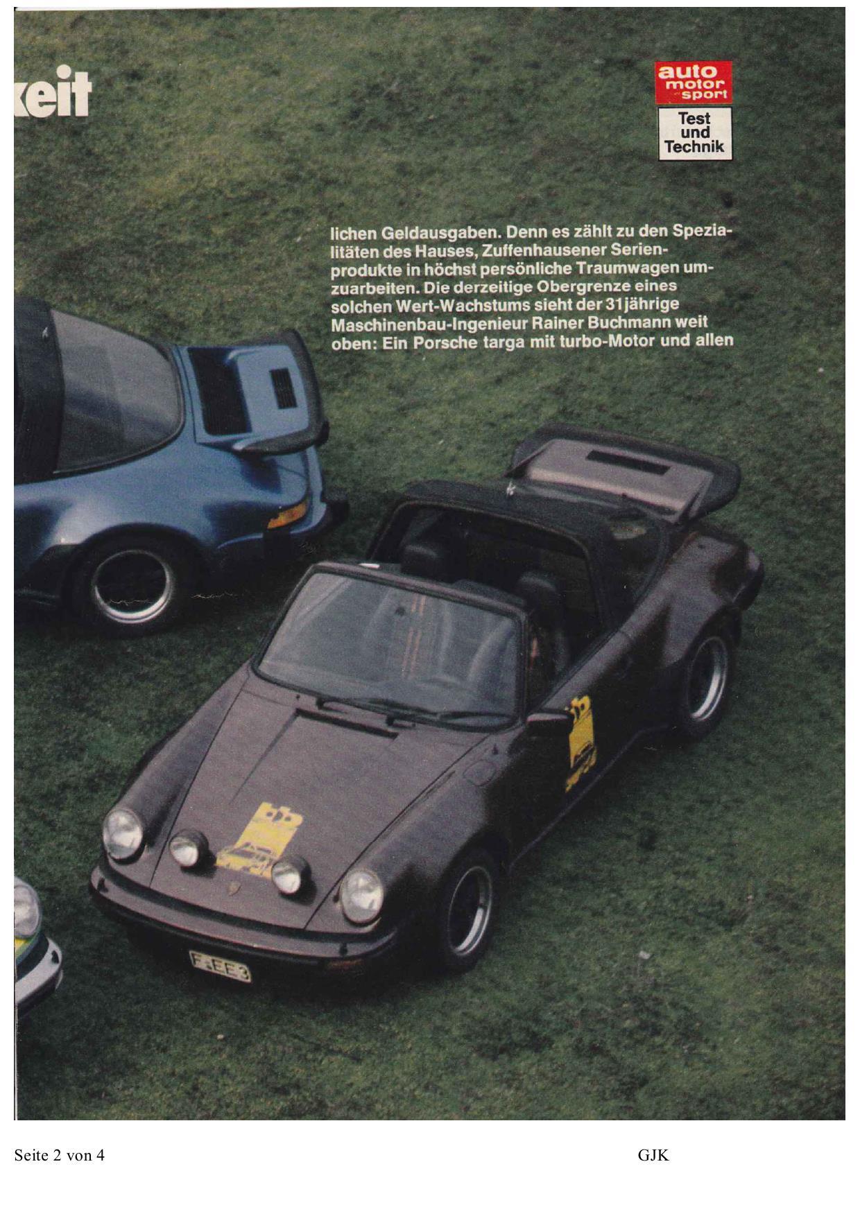 porsche 930 targa bb auto motor und sport mag 03 1977 deutsch porsche cars history. Black Bedroom Furniture Sets. Home Design Ideas