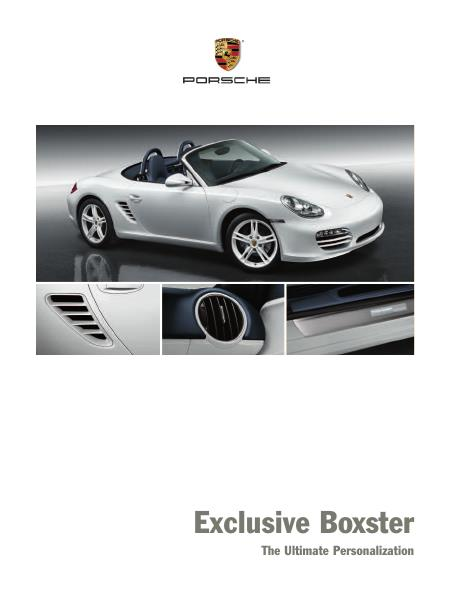 Рекламный буклет Porsche 987 Boxster Exclusive US