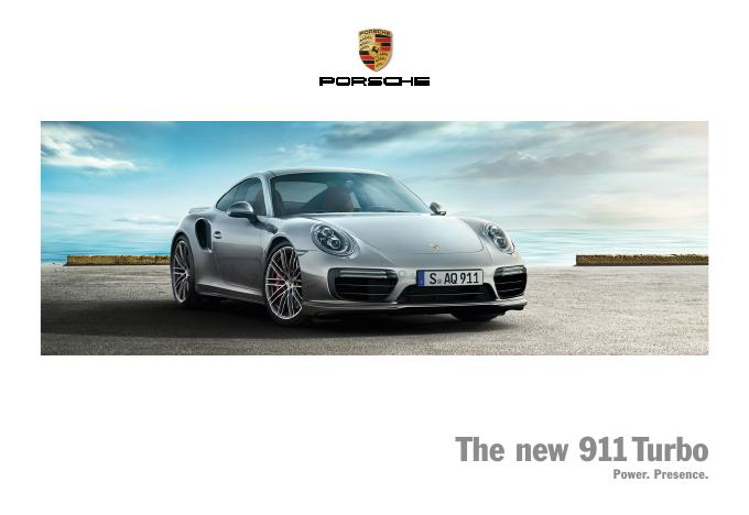 Рекламный буклет Porsche 991 Turbo US