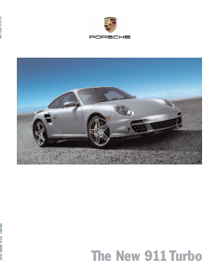 Рекламный буклет Porsche 997 Turbo US