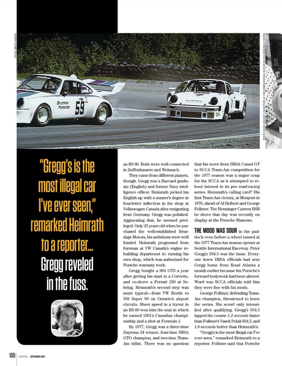 Porsche S Drivers Peter Gregg Amp Ludwig Heimrath Porsche Panorama Mag 09 2014 Porsche Cars